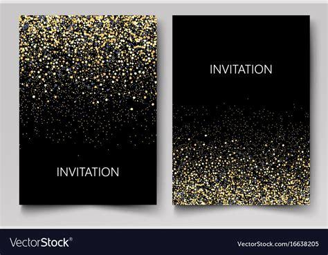 Invitation Template With Gold Glitter Confetti Vector Image Free Glitter Invitation Template