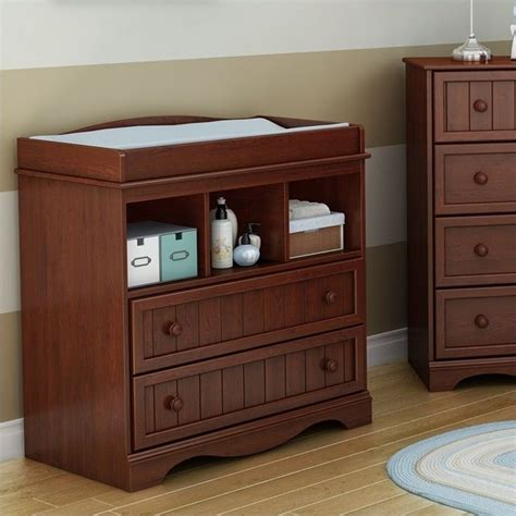 South Shore Changing Table South Shore Changing Table In Royal Cherry 3546330