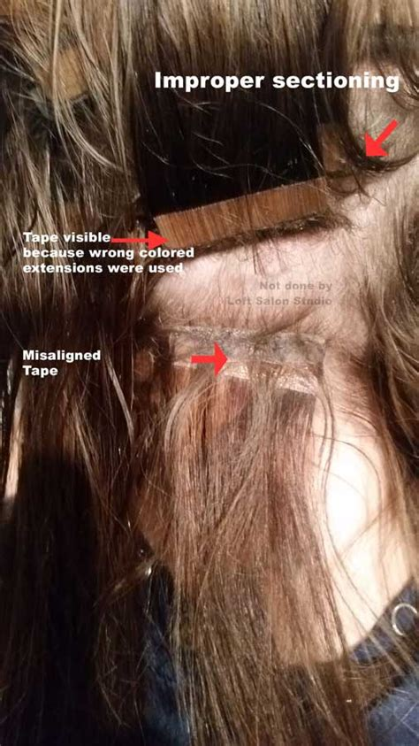 taped hair extensions damage poorly applied hair extensions l extension corrections