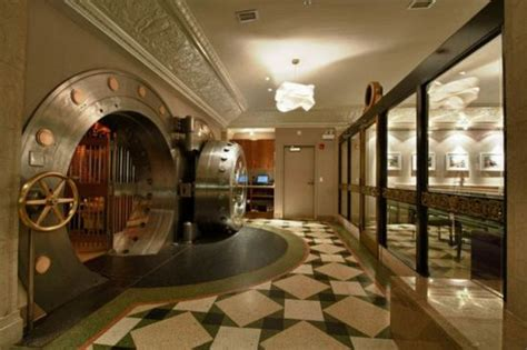 house themes vault from a historic bank vault into a luxurious club
