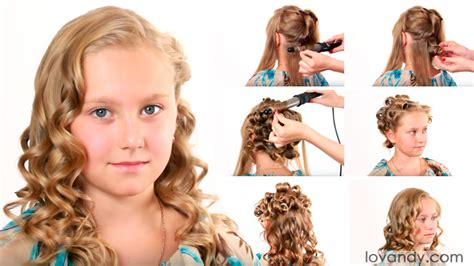 learn easy hairstyles at home how to do curly hair for little girls tutorial