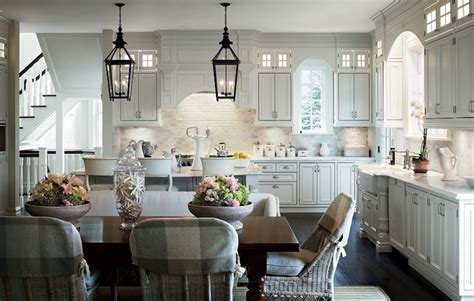 Eat In Kitchen Lighting Wicker Dining Chairs Transitional Kitchen Architectural Digest
