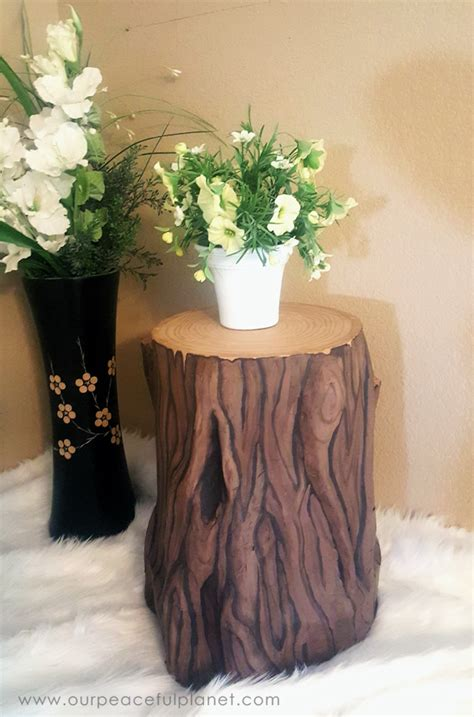 wood stump stool diy paper mache tree stump stool 183 tree stump paper mache
