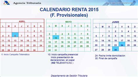 renta 2016 guipuzcoa fechas calendario renta 2015 oviedo alperi asesores