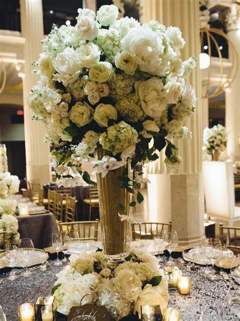 ivory wedding centerpieces reception d 233 cor photos ivory floral arrangement in gold