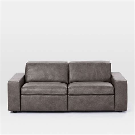 enzo sofa west elm enzo leather reclining sofa 76 quot west elm