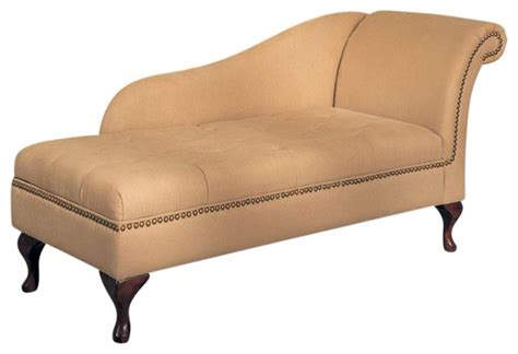cream chaise lounge chair cream brown nailhead trim microfiber chaise lounge with