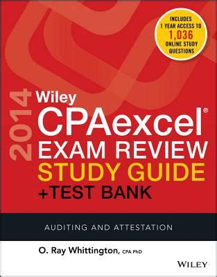 wiley cpaexcel review 2018 test bank auditing and attestation 1 year access books wiley cpaexcel review 2014 study guide test bank