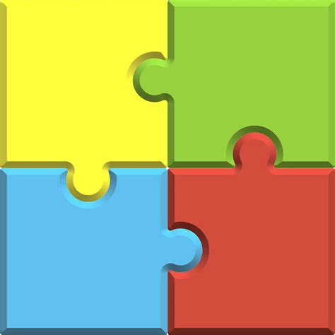 4 puzzle template free stock photos rgbstock free stock images puzzle