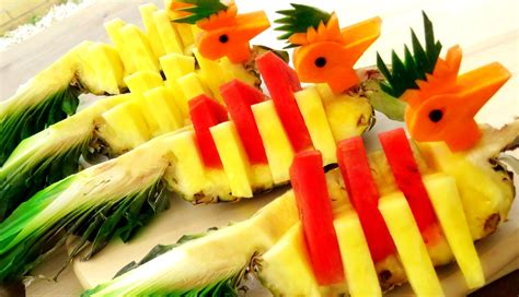 fruit decorations step by step how it s made fruit decoration food