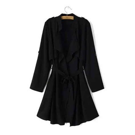 Jaket Panjang Coat Import Hongkong Coat Hitam Polos Lengan Panjang Import Myrosefashion