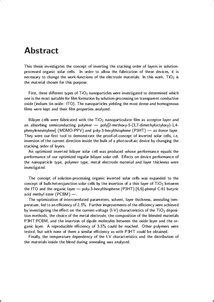 thesis abstract deutsch thesis on conducting polymer