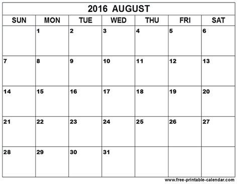 printable calendar 2016 doc printable calendar 2016 doc