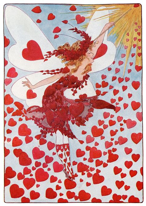 instant art printable valentines fairy  graphics fairy