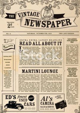 featured antiques articles antiques in style page 6 vintage newspaper layout design template royalty free