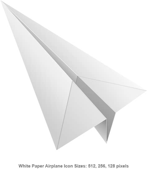 Make Paper Transparent - white paper airplane icon psd graphicsfuel