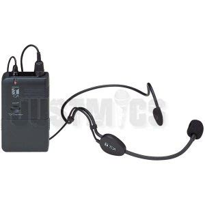 Wm 3310h toa vhf headset radio microphone 6 selectable channel