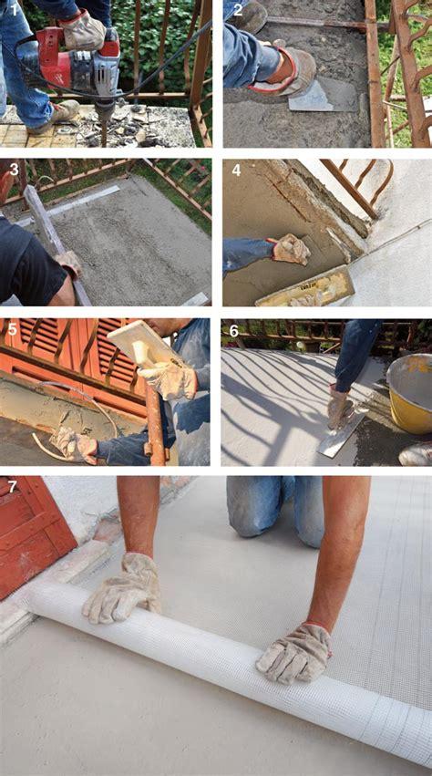 come pavimentare un terrazzo demolizione piastrelle balcone e ripristino sottofondo