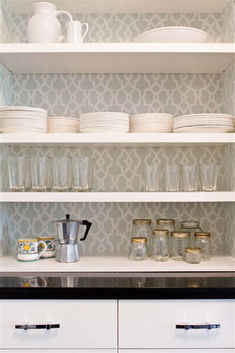 wallpaper on kitchen cabinets vintage kitchen cabinet wallpaper
