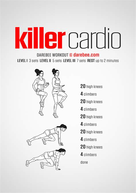 cardio workout plan at home killer cardio workout