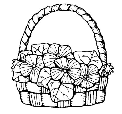 coloring pages of flower baskets flower basket coloring pages coloring pages