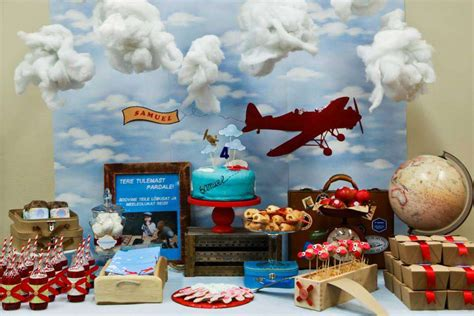 Vintage Airplane Birthday Decorations by Vintage Airplane Birthday Ideas Photo 10 Of 13