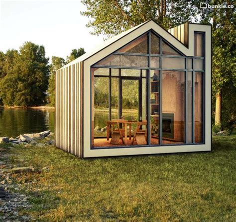 prefabricated tiny homes bunkie is a tiny prefab home for your favorite getaway