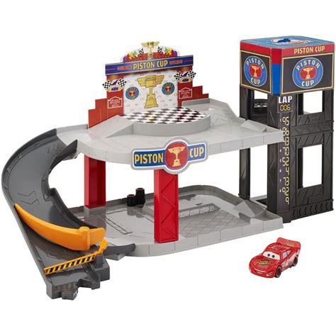 Piston Cup pixar cars piston cup racing garage at hobby warehouse