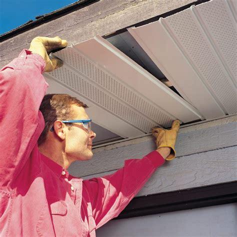 install aluminum soffits   maintenance