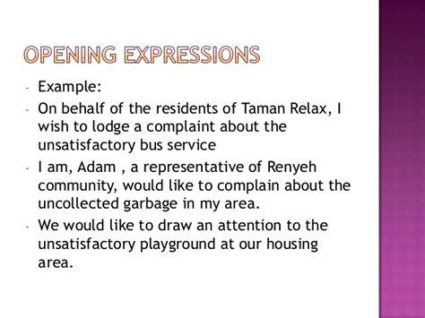 Complaint Letter Coach Service essay formal letter complaint about service