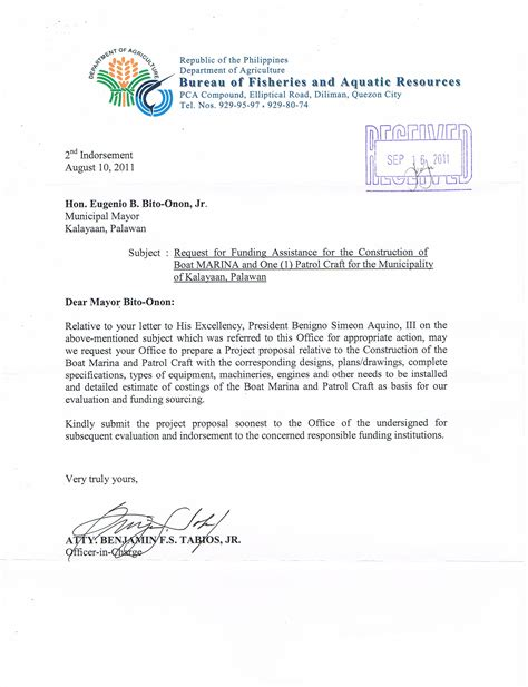 Request Letter To Municipality Timeline Kalayaan Sheltered Port Project Updated For May 2014 Philippine Defense Today