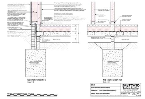 timber frame design details self build passive house ground floor to timber frame