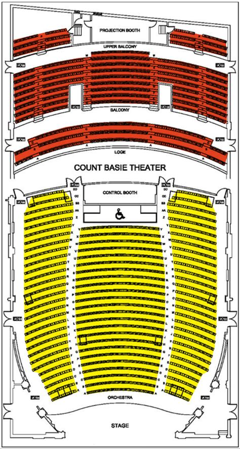 count basie theater red bank  jersey seating chart