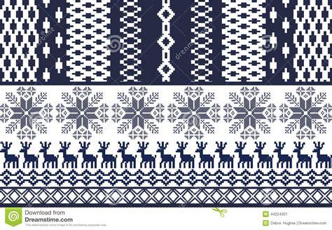 blue nordic pattern christmas ornament pattern blue nordic style cartoon