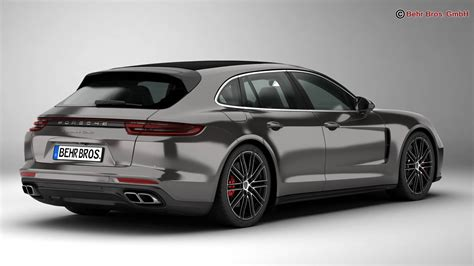 porsche sedan models porsche panamera sport turismo turbo 2018 3d model buy