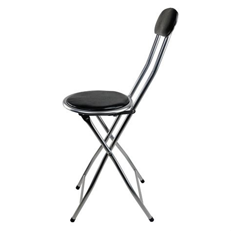 black padded folding high chair breakfast kitchen bar stool seat  oypla stocking