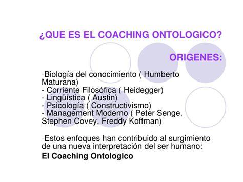 que es el couching que es el coaching ontologico