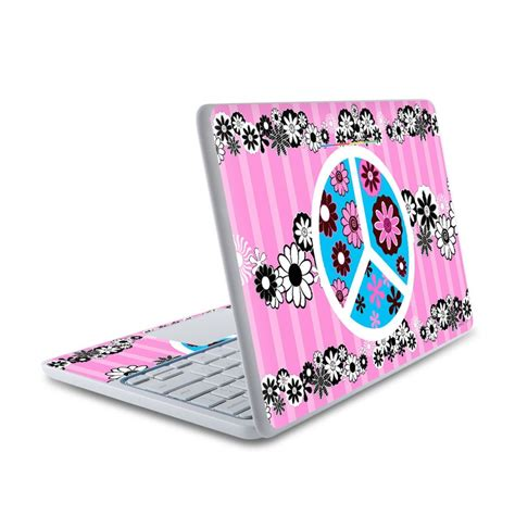 Peace Transceding Now To All Iphone All Hp hp chromebook 11 skin peace flowers pink by juleez