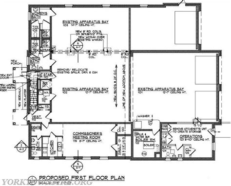 fire ambulance station design first floor plan it s more than just a bond yorktown heights engine company