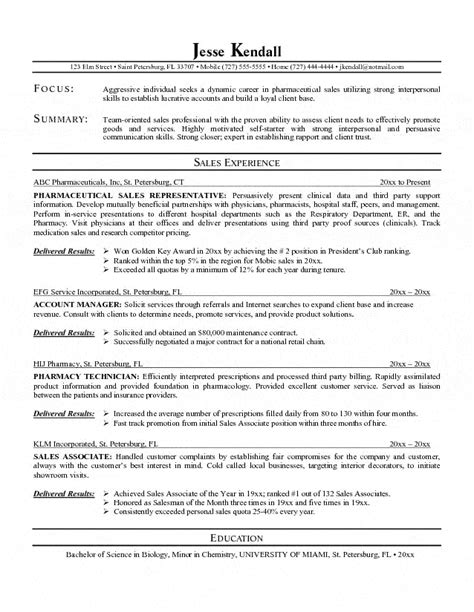 Sales Objective Resume by Sales Representative Resume Objective Resume Ideas