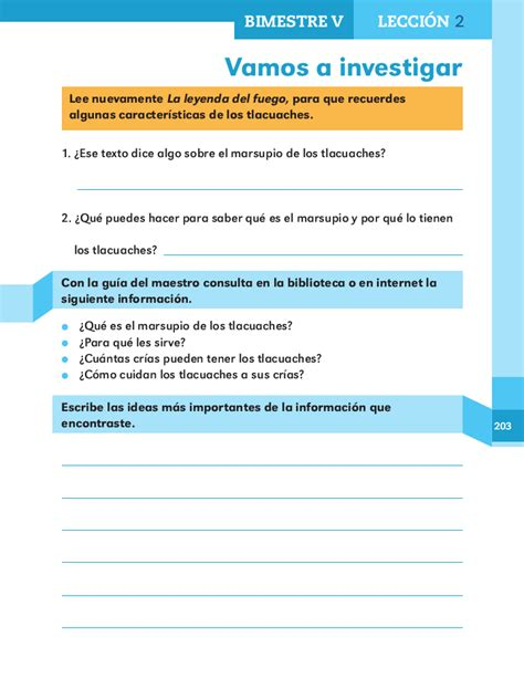 respuestas de los libros de texto 4 todas las respuestas vamos a investigar espa 241 ol 2do bloque 5 apoyo primaria