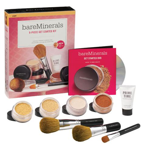 Bare Minerals Starter Kit bareminerals 9 get started complexion kit light