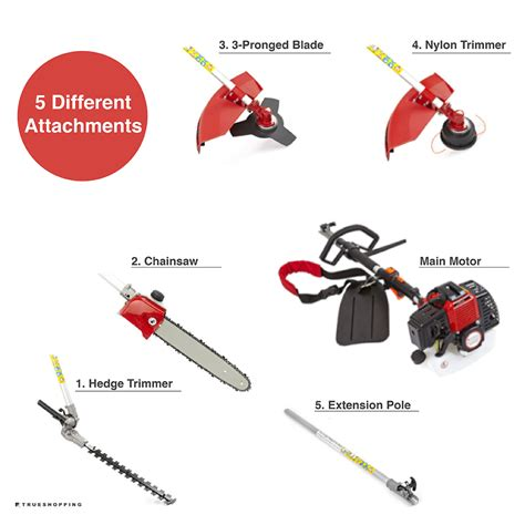 Multi Function Garden Tool 52cc petrol multi function 5 in1 garden tool hedge