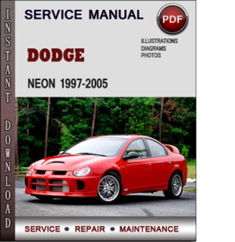 car repair manuals online free 1997 dodge neon head up display dodge neon 1997 2005 factory service repair manual download pdf d