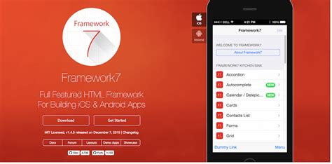 best framework top 22 best free html5 frameworks for responsive web