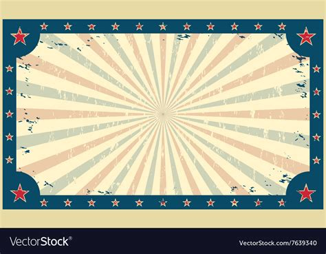 Template For Circus Funfair Poster Or Ticket Vector Image Circus Poster Template Free