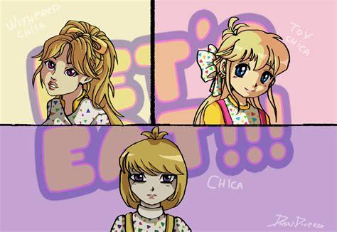imagenes de fnaf in anime fnaf all chica in anime by drawduverse on deviantart