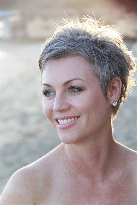 short styles for thick grey hair short grey hairstyles yahoo image search results