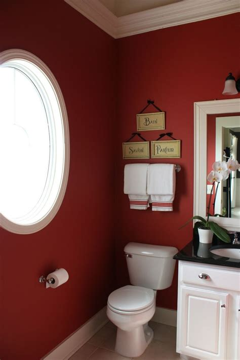 red wall bathroom 22 ideas to use marsala for bathroom d 233 cor digsdigs