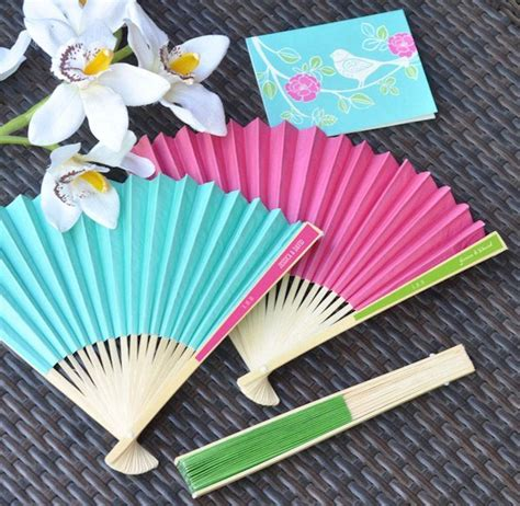 personalized fans for wedding favors personalized paper fans for weddings many colors